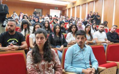 """الجامعة العربية الامريكية والوقائي ينظمان ورشة عمل بعنوان """" اجعل نفسك شخص لا يمكن نسيانه على مواقع التواصل الاجتماعي """""""