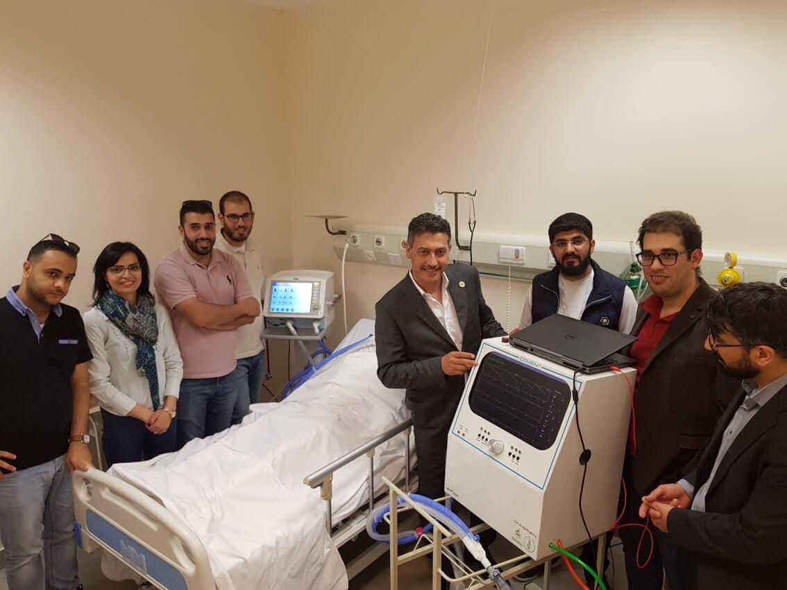 الجامعة العربية الأمريكية تساهم بدعم مشروع جهاز التنفس الاصطناعي الأول من نوعه في فلسطينCOVENT