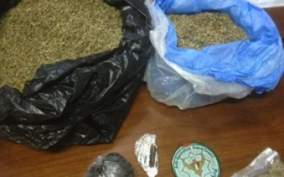 الشرطة تضبط ما يزيد عن 1 كغم من المواد المخدرة في جنين.