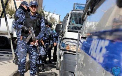 الشرطة تفض شجار وتلقي القبض على  5 اشخاص مشتبه بهم في جنين