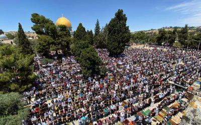 الجمعة الأخيرة من شهر رمضان في المسجد الاقصى