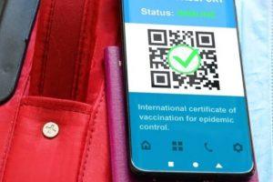 (جواز سفر اللقاح)  هو شرط  السفر والسياحة