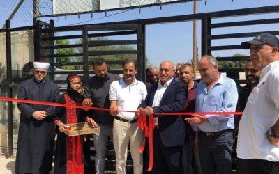 الإحتفال بافتتاح ملعب ومسبح نيسان في مخيم جنين